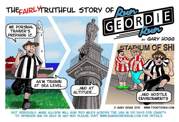 Run Geordie Run cartoon image