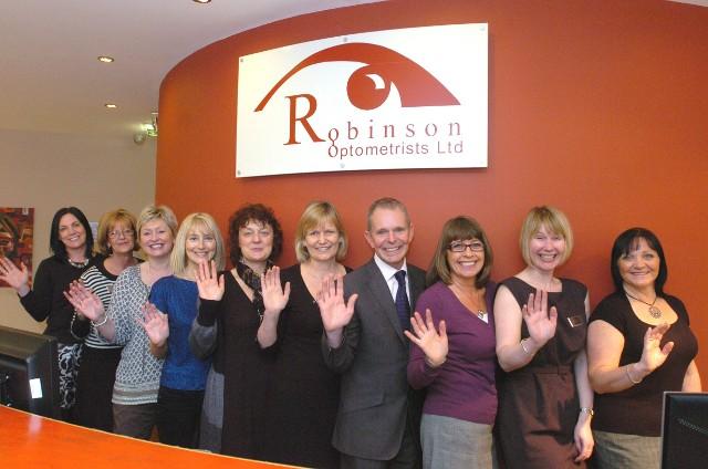 Image of Robinson Optometrists 2011 Opticians Awards Team